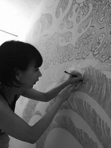 鈴木桃子パフォーマンス「Finale : Untitled Drawing Project 2016」
